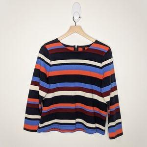 J. CREW Long Sleeve Striped Top
